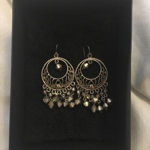 Jewelry - Vintage Bronze/Gold chandelier earrings